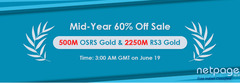Remember to Take RSorder Mid-Year 60% Off RuneScape Gold for Sale Tomorrow