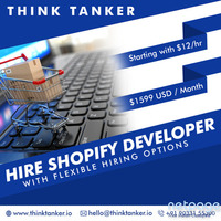 Hire Dedicated Shopify Developer from ThinkTanker USA, Dubai, India