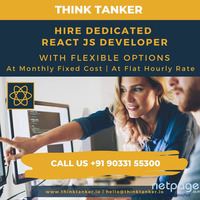 Hire ReactJS Developer from ThinkTanker USA, Dubai, India