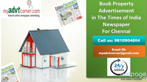Property Advertisement in Times of India Newspaper for Chennai