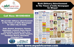 Times of India Bhopal Obituary Advertisement