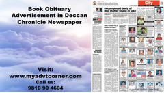 Deccan Chronicle Obituary Classified Advertisement