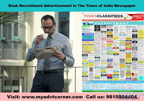 Times of India Chennai Recruitment Classified Advertisement