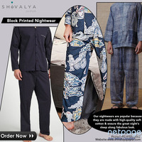 Block Printed Night Suits | shivalayajaipur.com