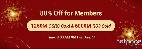 Amazing 80% Off Sale: Obtain Runescape Gold 2007 with 80% Off as RSorder Members