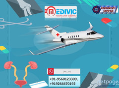 Hire ICU Support Air Ambulance Services in Vellore by Medivic