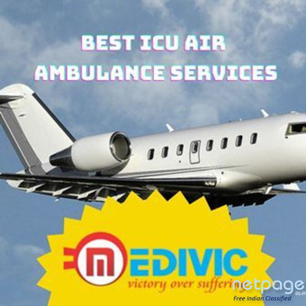 Prevalent ICU Air Ambulance in Bhubaneswar by Medivic Aviation with Innovative Support