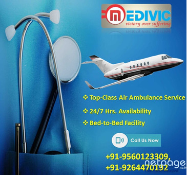 Select the High-Level Air Ambulance Service in Dibrugarh by Medivic Aviation
