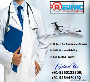 Get the Reliable Commercial Air Ambulance Bagdogra by Medivic Aviation
