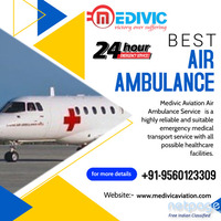 Take the Elite & Incredible Air Ambulance Service in Allahabad by Medivic Aviation