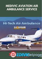 Use the Life-Savior Commercial Air Ambulance Service in Bangalore by Medivic Aviation