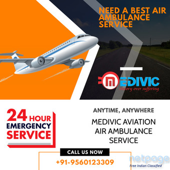 With Proficient Medical Team Get the Air Ambulance Service in Bokaro by Medivic Aviation