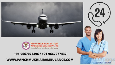 The Panchmukhi Air Ambulance in Raipur: Avail Hassle-Free Patient Transfer