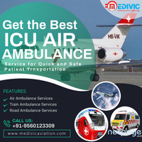 Obtain ICU Emergency Air Ambulance Service in Delhi by Medivic