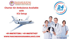 Avail 365 Day in 24 Hour Air Ambulance Service in Patna at Low Fare