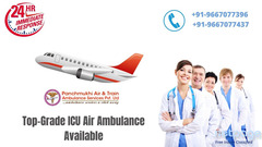 Avail Air Ambulance Service in Delhi with Entire Life Support